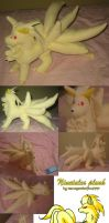 Ninetales plush by teenagerobotfan777