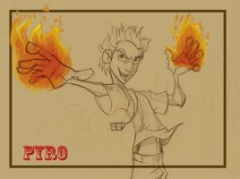 Pyro X-men by GilJimbo