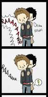 just very VERY happy to see you, Dean by Castielogically