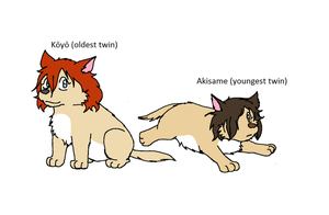 Wolf Children: Koyo and Akisame by XfangheartX