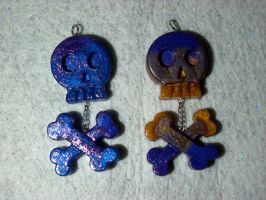 resin skull and cross bones by TashaAkaTachi