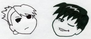 Roy and Riza chibis by live4him4eva
