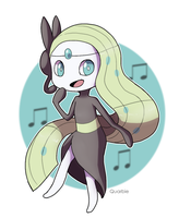 Meloetta by Quarbie