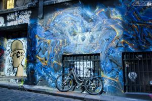 Bike in Hosier Lane by djzontheball