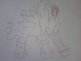 Entei by TheDarkUnknownDream