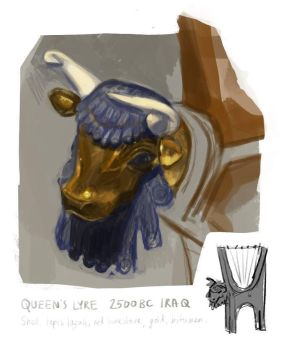 Study: The Queen's Lyre by fivetinsoldiers