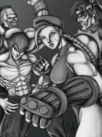 SSFII: The New Challengers BW by jpzilla