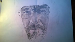 Walter White from Breaking Bad (Drawing A3) by Drawingforu