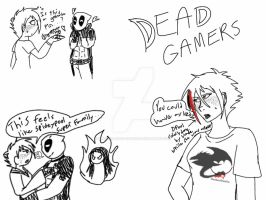 DeadGamer Silliness by ShardianofWhiteFire