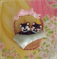 Cat Lady brooch commission by Galadriel89