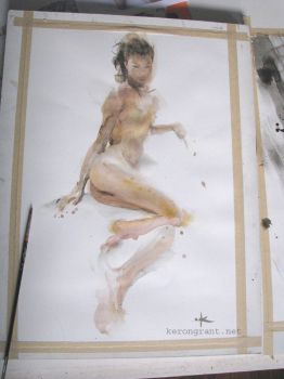 Nude Study by Kerong