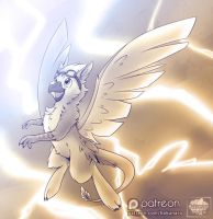August'16 Raffle - Birdstorm by Hakunaro