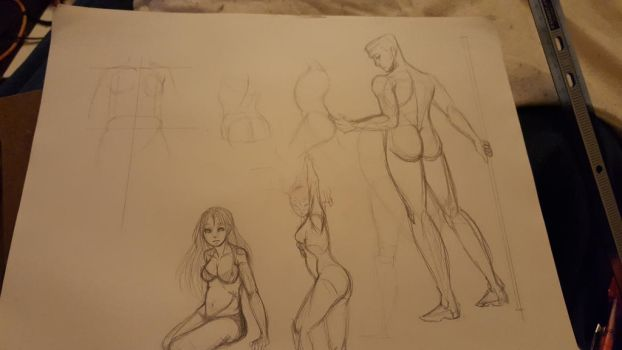 figure drawing  practice... by CarnageComix