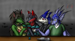 Commission: RAlord bar party by Snowfyre