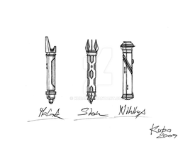 SW:KotOR- Sith Lightsabers by KUBAU