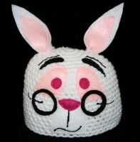 White Rabbit Beanie by rainbowdreamfactory