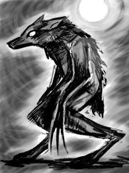 Dark Werewolf by N-B-R-artwork
