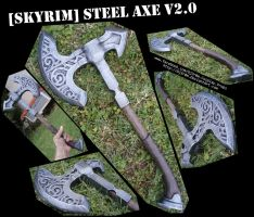 [SKYRIM] Steel Axe v2.0 by Dj3r0m