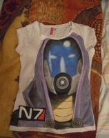 Tali hand painted t shirt 2 by IfWereLost