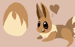 Eevee doodle thingy by kirbyemma