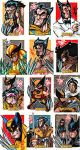 X-Men origins: Wolverine cards by skulljammer