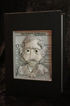 Poe Portrait Book Sculpture by wetcanvas