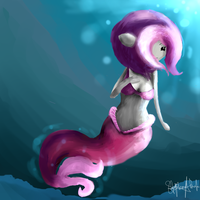 Plum painting - Bravest Warriors by GamingCupcakes