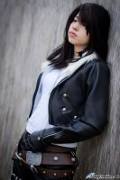 Rinoa as Squall by FallingFeathers
