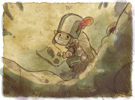 Thomas the Leap Year sketching Elf 15 by D-Gee