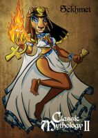 Sekhmet Base Card Art - Danielle Gransaull by Pernastudios