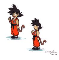 Chibi Goku, mmkay. by lauraneato