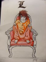 L - Death Note by Scream-Deafening