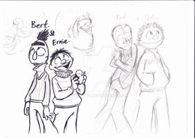 bert and ernie also rod and nicky sketch by miss-POH
