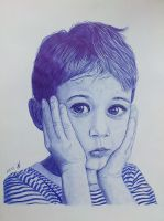 Ballpoint pen portrait. by valakh