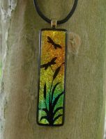 Dragonfly Sunset Fused Glass by FusedElegance