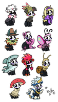 Bug outfits by MizAmy