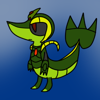 Croc Birthday Gift:Chaos Snivy by toamac