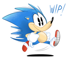 Sanic WIP by RedBlooper