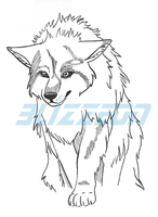 Grey Wolf Tattoo Design by blizzeon