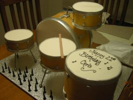 Drum Cake, Its all cake by mudpiecakes