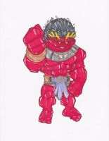 PLANET RED HULK by hclix