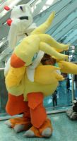 Chocobo and Moogle from Final Fantasy at AX 2013 by trivto