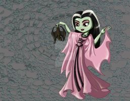 Lily Munster Chibi by thedustyphoenix