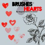 Brushes Hearts by MagicWorldxHp