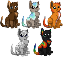 Kitten Adopts (5 Points Each) CLOSED by Shadowhawk-Adopts