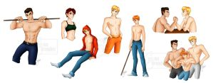 Shirtless men everywhere! by CuriousCucumber