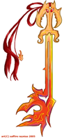 Ifrit Keyblade Colored by saffytaffy