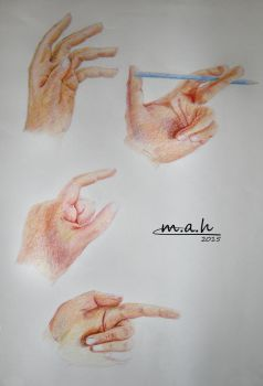 Hands ColoredPencils by S-M-A-H