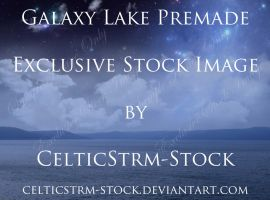 Galaxy Lake Premade Background Exclusive Stock by CelticStrm-Stock
