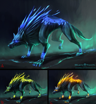 Wolf enemy concepts by HeliacWolf